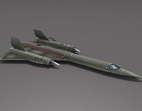 3D asset SR-71 Blackbird
