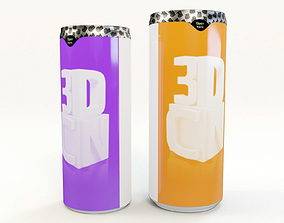 Sleek 330ml and 250ml slim beverage cans with 3D model 2
