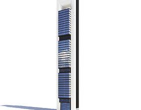 modern street Skyscraper 3D Model