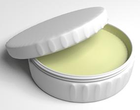 Cream Container 3 apply 3D
