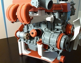 Toyota 22RE engine 3D print model