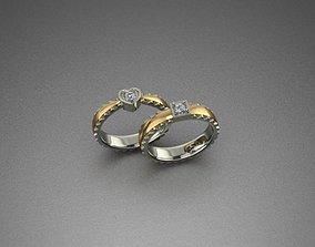 Tiny cute ring diamond 3D print model