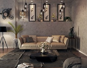 Old Style Living Room 3D model