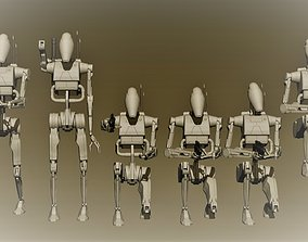 3D print model miniatures battledroid pack 01