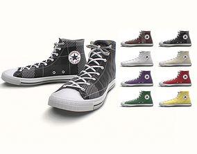 Classic High Top Converse All Stars - 17 Colors 3D asset