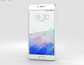 3D model smartphone Meizu M3x Silver