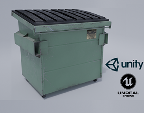 Industrial Dumpster PBR 3D model