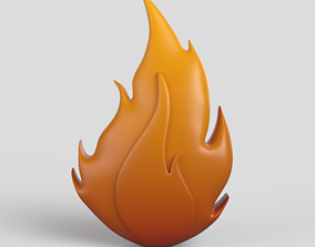 3D model Cartoon Fire smoke