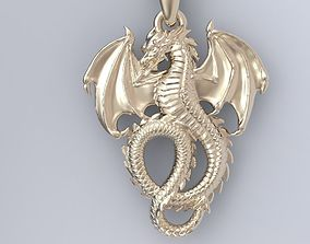 3D print model printable Dragon Pendant