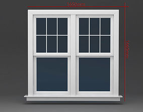 3D Window Doublehung Two operating