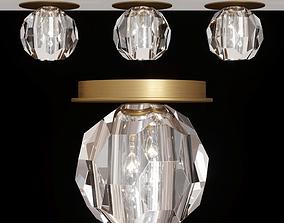 RH BOULE DE CRISTAL PETITE FLUSHMOUNT brass 3D