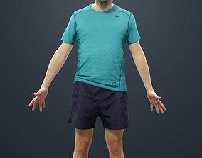 3D asset Animated Sports Man - A-pose - Pet