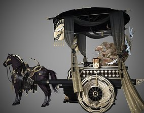 3D model Luxurious Chinese classical carriage coach cab 1