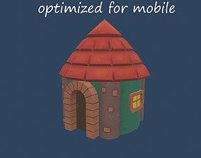 3D asset low-poly magic House