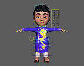 3D Asset - Cartoons - Character - Baby - Boy - Indian -
