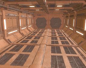 Spaceship Sci-Fi Corridor 3D model