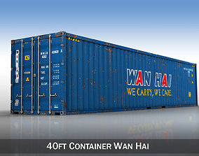 40ft Shipping Container - Wan Hai 3D