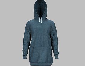 hoodie 3D model low-poly