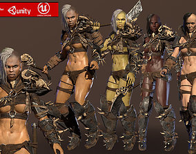 3D model Orc Girl