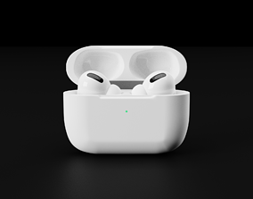 3D Apple Airpods Pro In Official Color