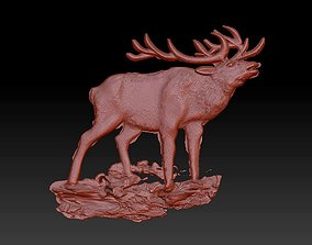 Deer moose animals panel 3D print model