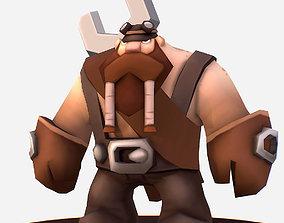 Handpaint Cartoon Gnome Master Character 3D asset