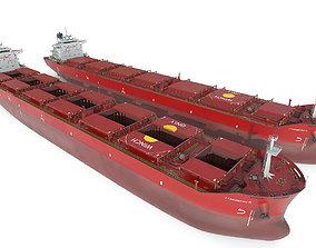 Bulk carrier Red 3D model