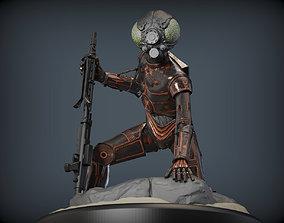 3D print model 4-LOM droid bounty hunter from star wars