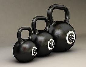 gym 3D model Kettlebell