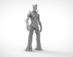 Adult Groot 3D Low - High poly Model 3D asset