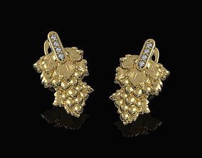Grape Earrings 3D print model