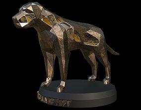 Steampunk English Mastiff 3D model