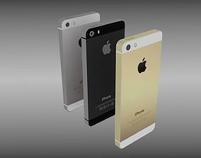 3D model Iphone 5S silver gray gold