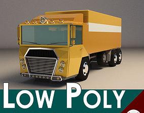 Low-Poly Cartoon Cargo Truck 3D model