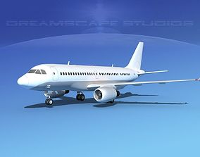 3D model Airbus A319 Unmarked 3