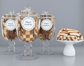 food Chess cookie jars 3D model