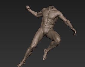 3D model Male Full Body Sculpt Pose 9