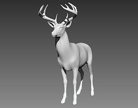 3D model Deer base mesh for Zbrush