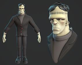Frankenstein monster cartoon character base 3D model