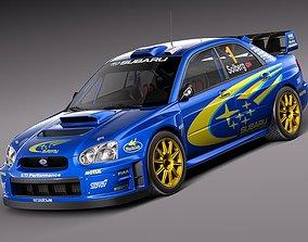 3D model Subaru Impreza STi WRC 2004 sedan