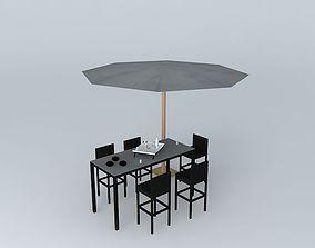 Garden furniture Miami Maisons du Monde 3D Agency