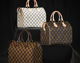 Louis Vuitton Speedy 25 Bag 3D model low-poly