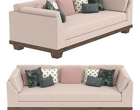 3D model custom made three seat sofa