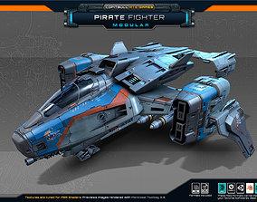 SF Modular Pirate Fighter 3D asset