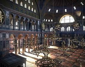 3D model Hagia Sophia Ottoman Version