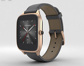 3D model Asus Zenwatch 2 1-63-inch Rose Gold Case Taupe 2