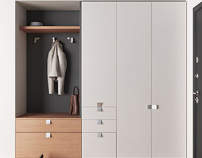 3D model Modern wardrobe for entryway