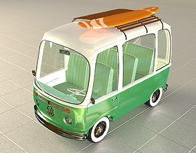 3D Cartoon VW Van - Summer style
