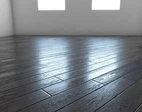 3D Black wooden boards