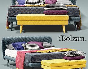 3D model furniture Bolzan Corolle bed